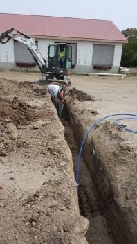 Utility line installation