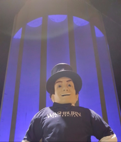 Washburn Ichabod turns the Tower Blue