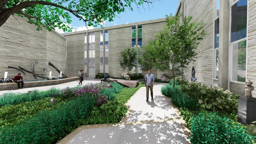 Washburn University Mulvane and White Garden