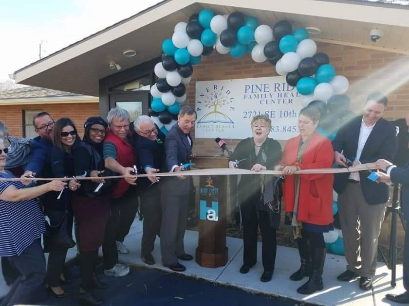 topeka housing authority clinic ribbon cutting