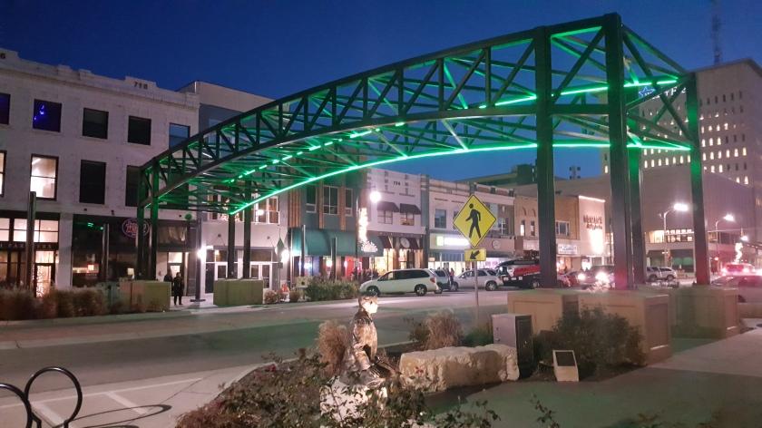 Downtown Topeka, Kansas Arch Lighting
