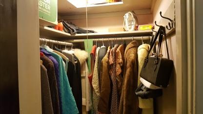 Closet with original clothes