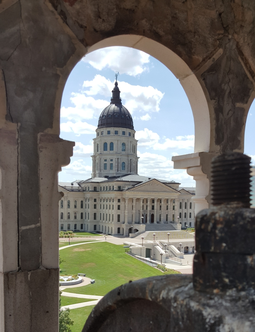 View of the Kansas State Capitol from the bell tower