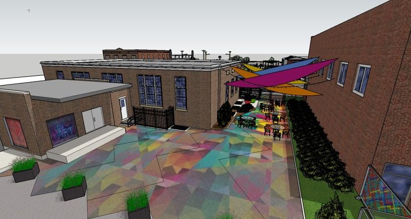 NOTO Arts Center Courtyard